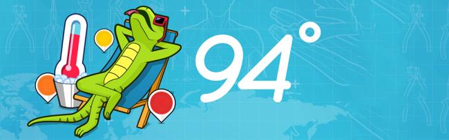 94 grad slider